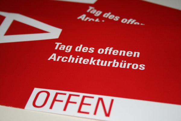 Flyer und Ausstellungskonzept für die Architektenkammer Tübingen