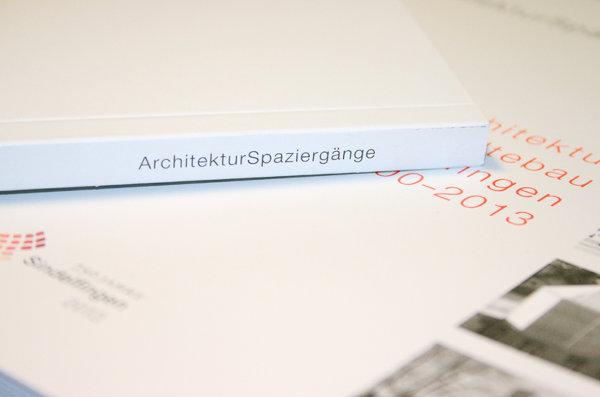 ArchitekturSpaziergänge Sindelfingen Buchgestaltung