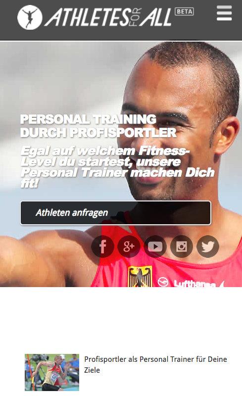 mobile Website Athletesforall