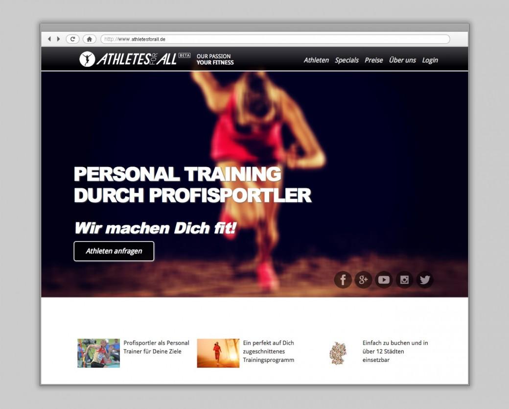 Athletesforall Website