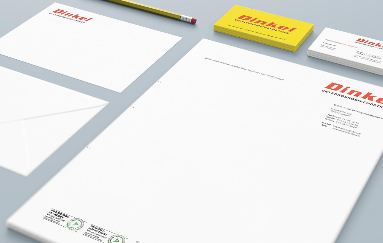 Dinkel Visitenkarte Design