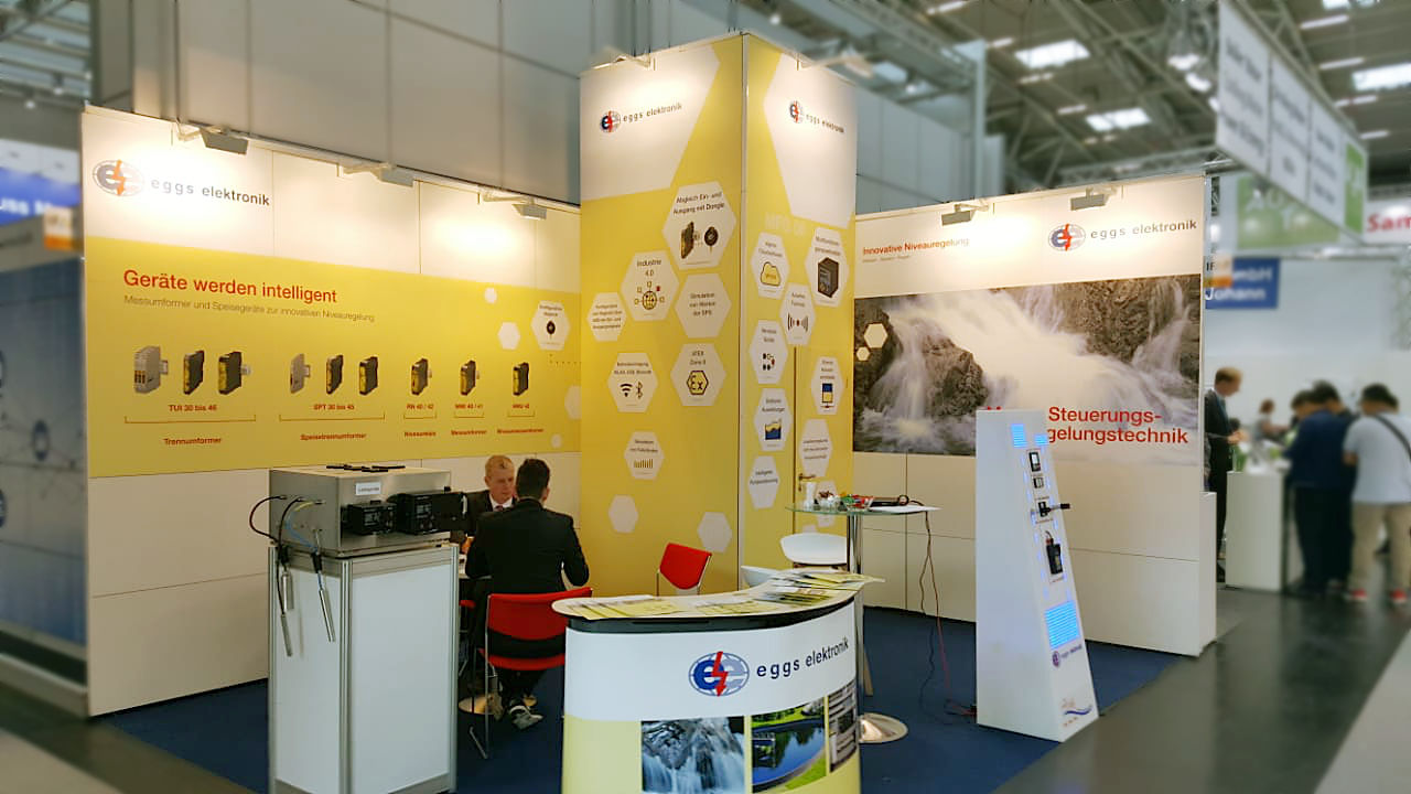 eggs elektronik Messestand IFAT 2018