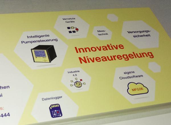 Gestaltung von Symbolen und Werbematerial für eggs elektronik