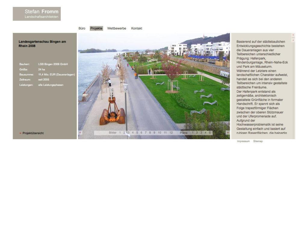 Webdesign für Landschaftsarchitekten