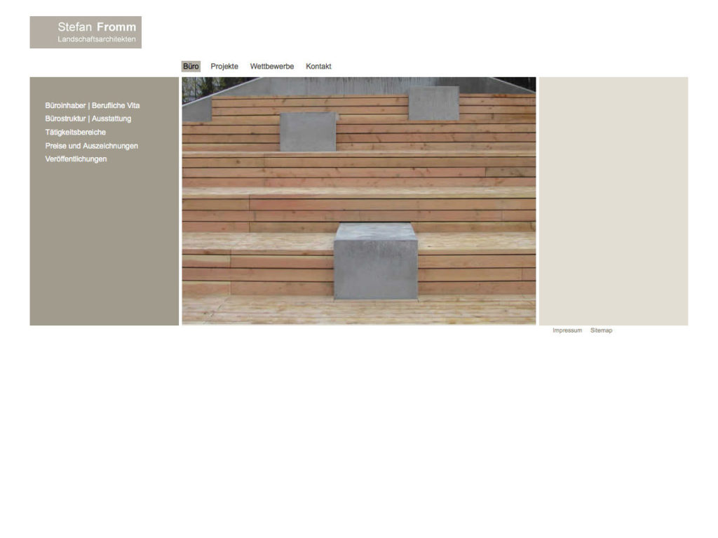 Fromm Landschaftsarchitekten Website