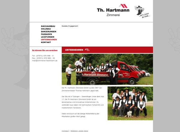 Zimmerei Hartmann Website