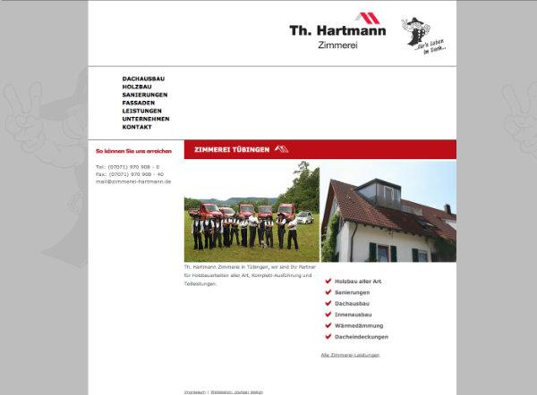 Zimmerei Hartmann Tübingen Website