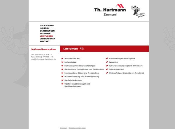 Hartmann Zimmerei Webdesign aus Tübingen