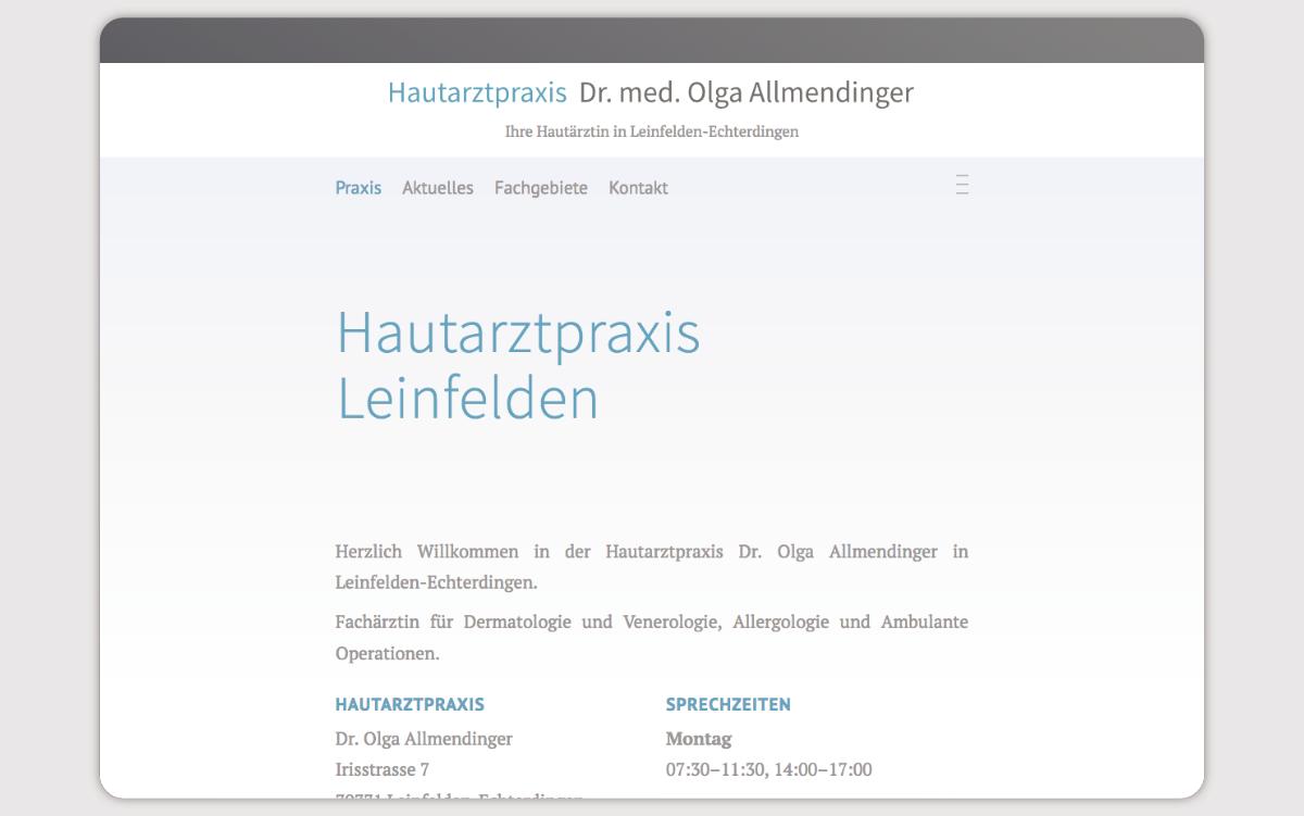 Webdesign Arztpraxis Leinfelden Stuttgart