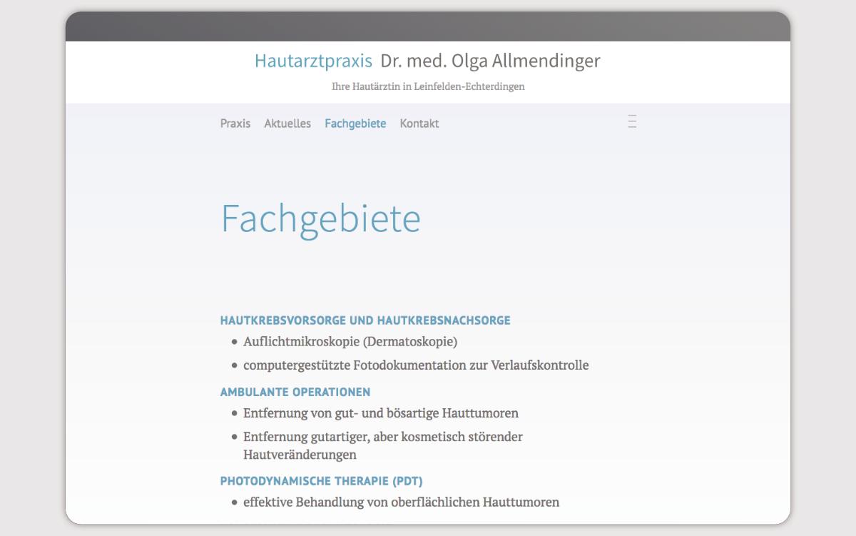 Websiteumsetzung für eine Arztpraxis in Leinfelden