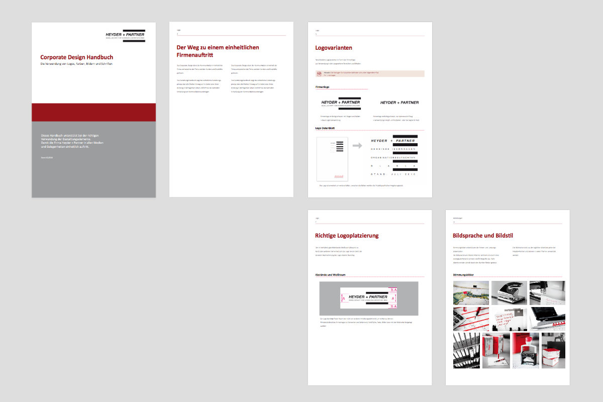 Corporate Design Handbuch Heyder+Partner