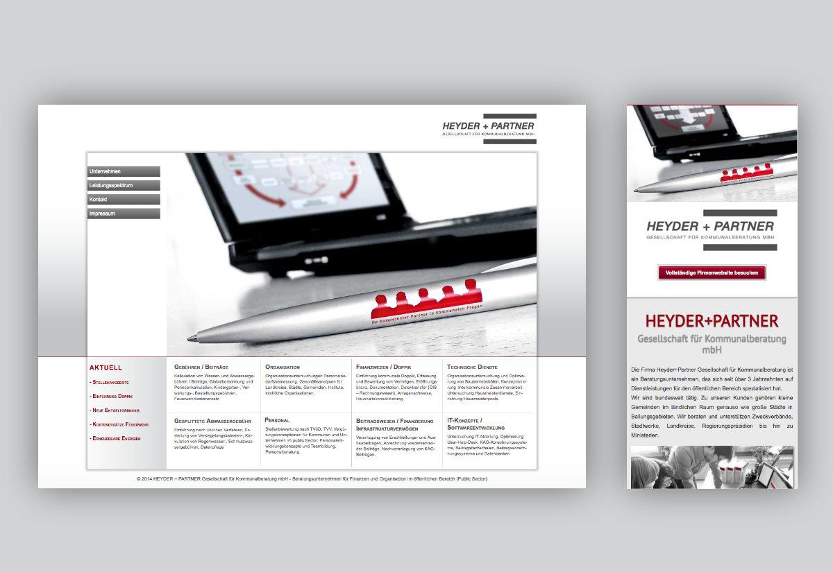 Heyder+Partner Responsive Webdesign