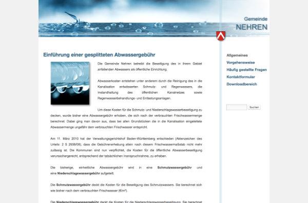 Informations-Website zur Getrennten Abwassergebühr von HEYDER+PARTNER