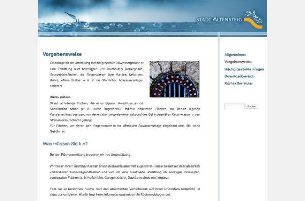 Wordpress Multi-Site-Website zur Getrennten Abwassergebühr von HEYDER+PARTNER