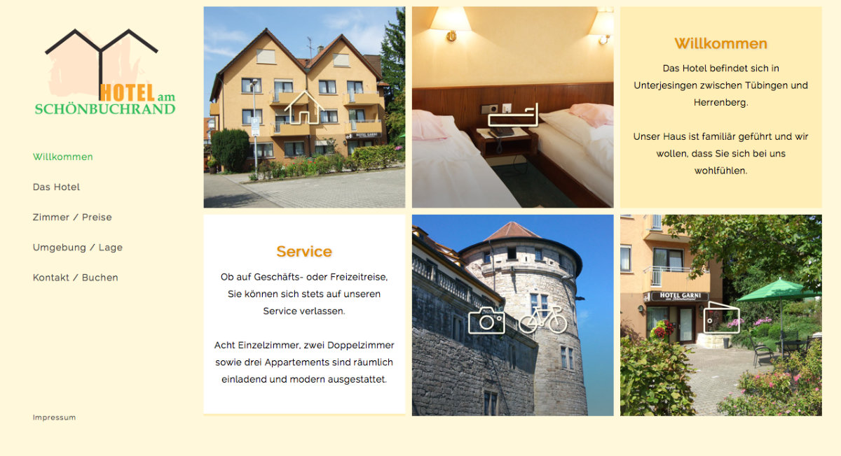 Webdesign Hotelwebsite