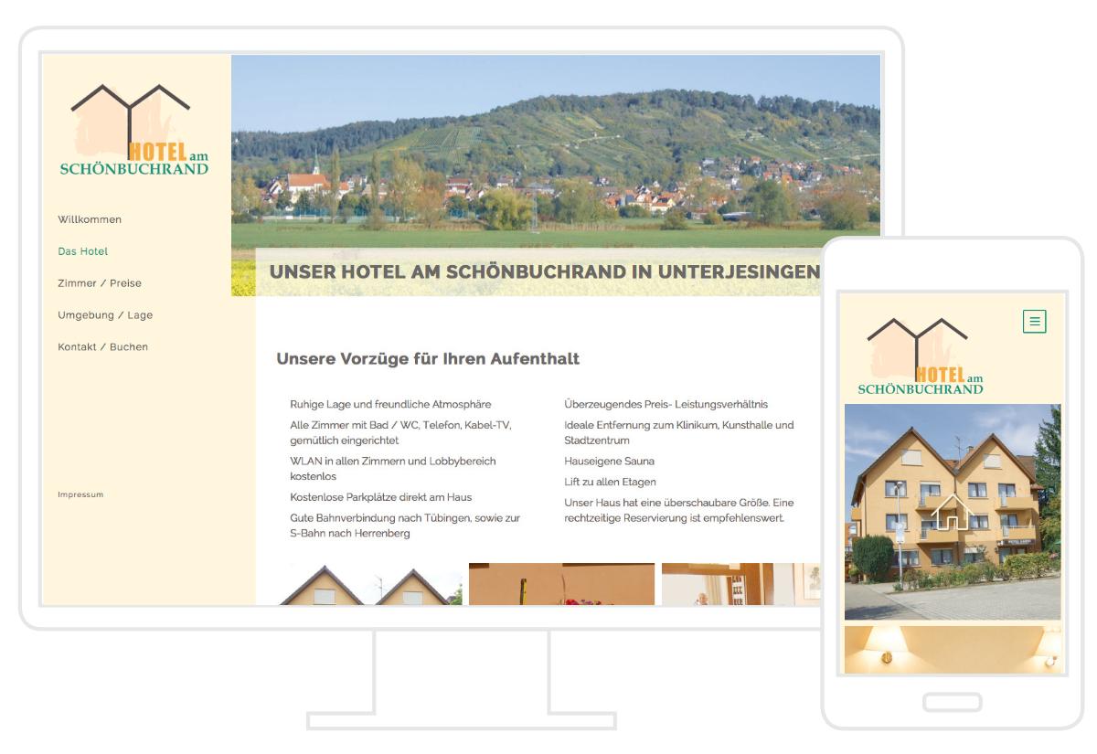 Hotel am Schönbuchrand Website