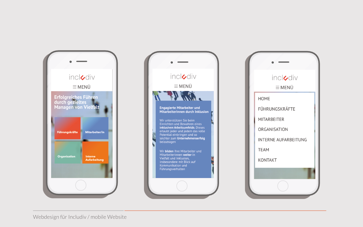 includiv mobile Website