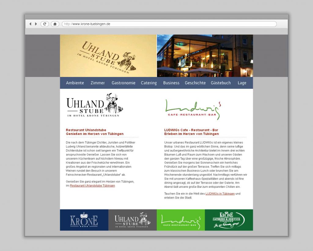 Uhlandstube Webdesign
