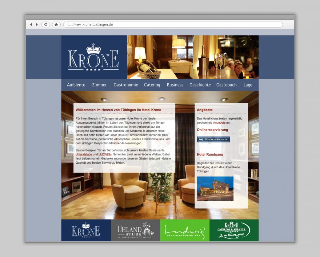 Hotel Krone Tübingen Website