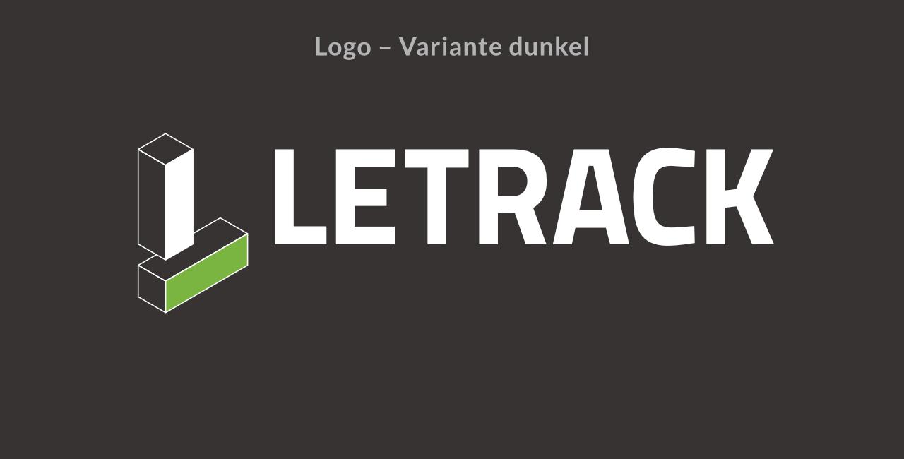 Letrack Logodesign - Variante dunkel
