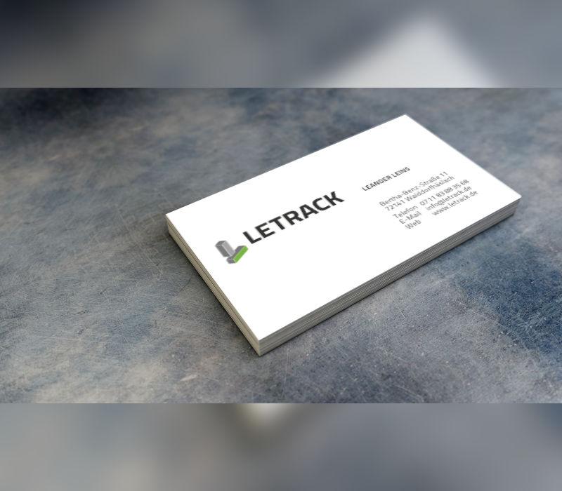 Design der Visitenkarte