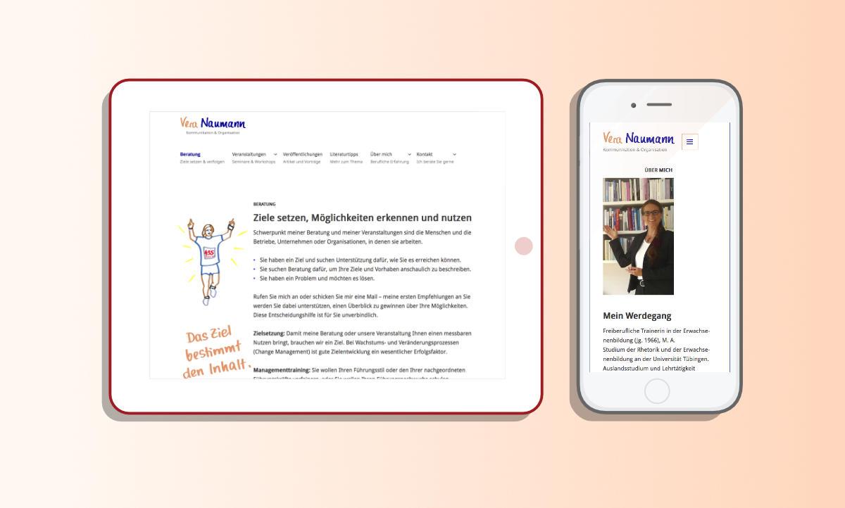 Website Responsive Design für Vera Naumann