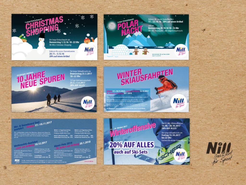 Referenz: Print-Mailings für Ski-Nill