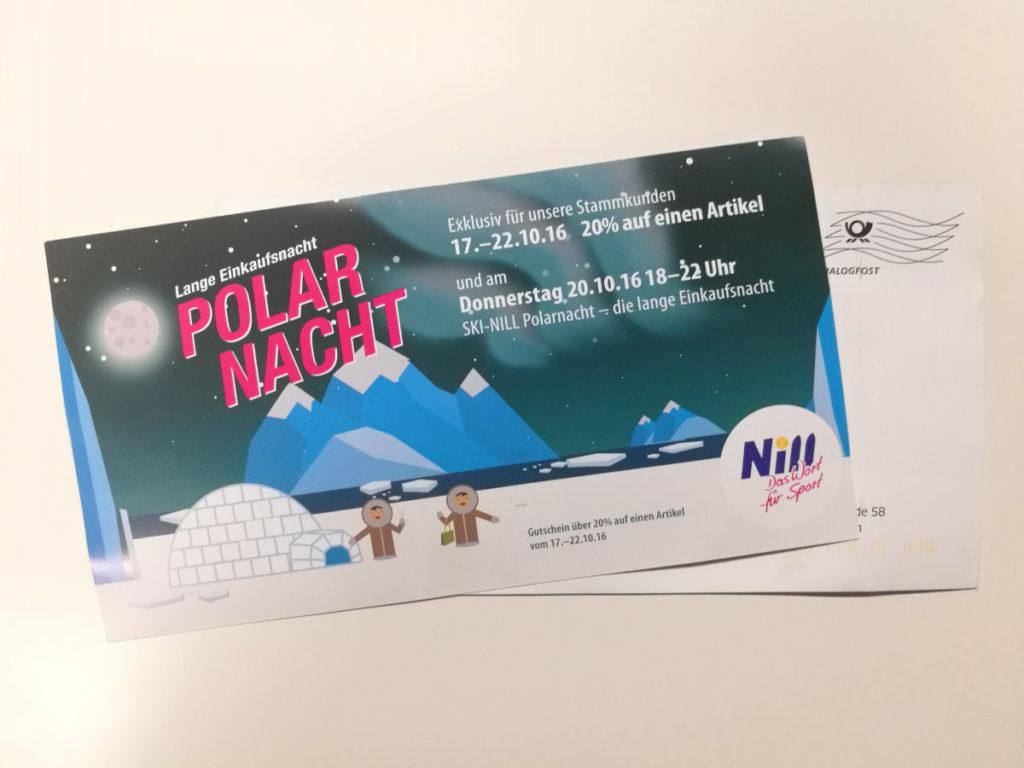 Mailing Illustration für Ski Nill Nehren