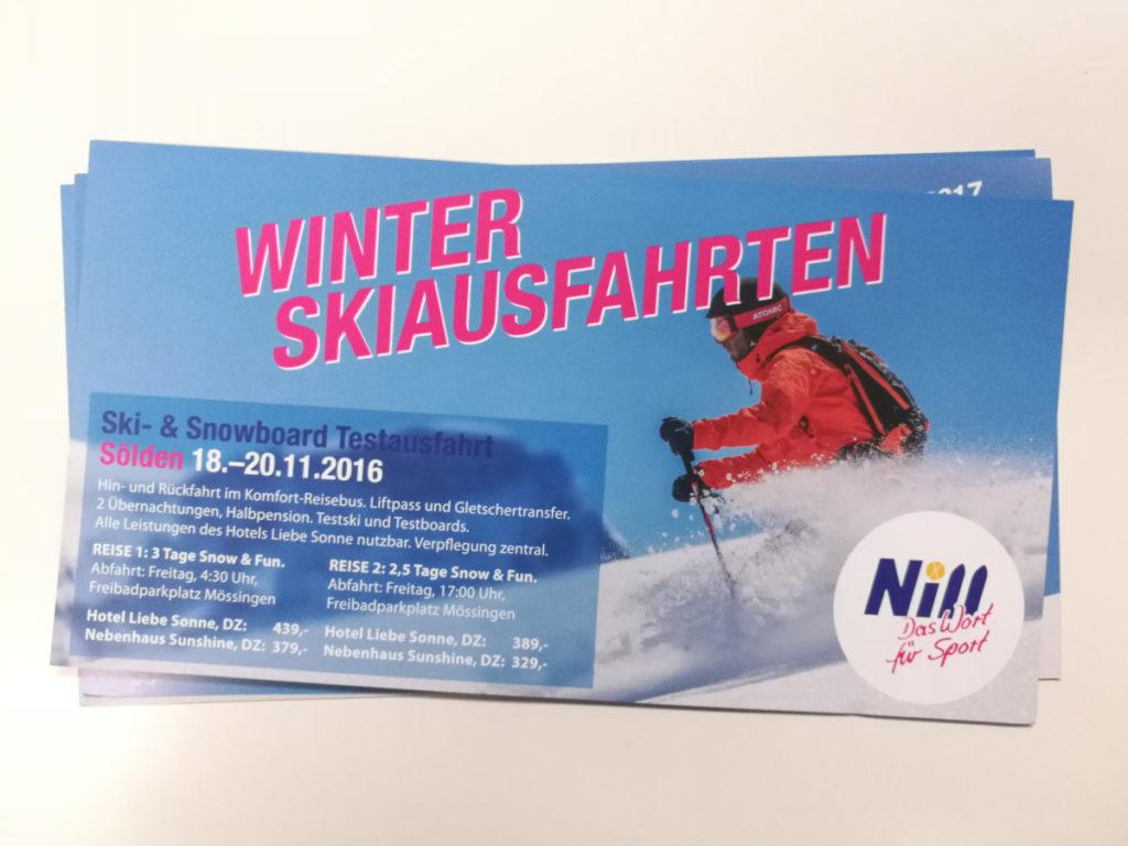 Flyergestaltung Ski Nill Nehren