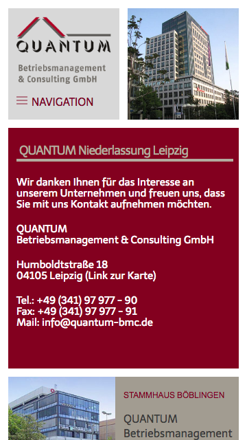 Quantum Responsive Kontaktseite