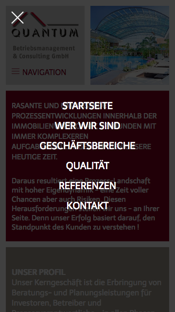 Quantum Responsive Website Menu
