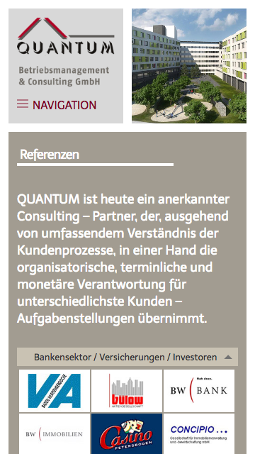 Quantum Responsive Website Referenzen