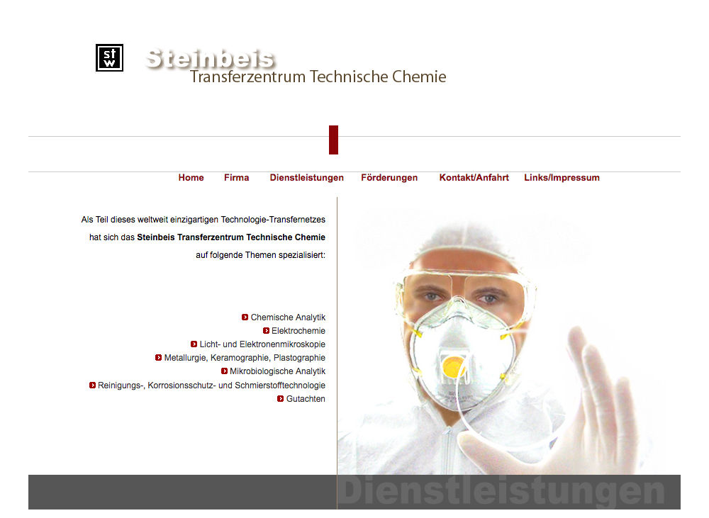 Steinbeis Chemie Reutlingen - Webdesign