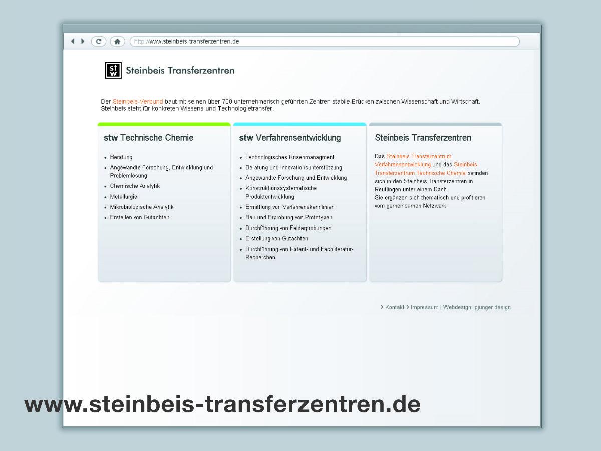 Webdesign für Steinbeis Transferzentren Reutlingen