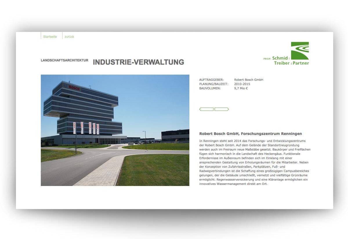 Website Landschaftsarchitekturbüro Leonberg