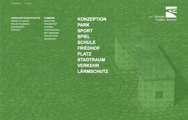 Schmid Treiber Partner Website Navigation