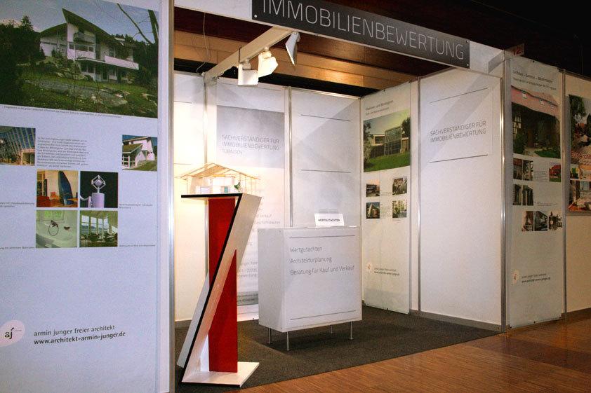 Messestand Sachverständiger für Immobilienbewertung Tübingen