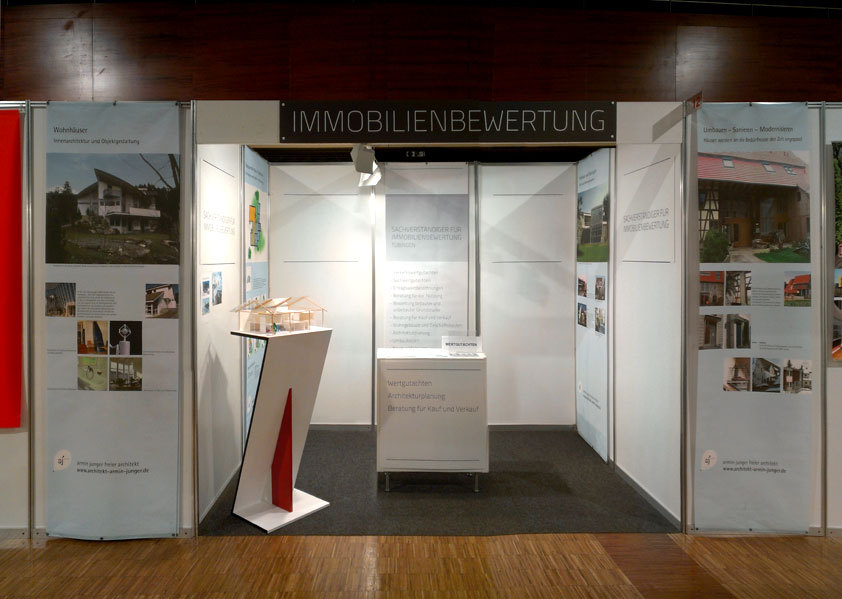 Messestand Immobilienbewertung Tübingen